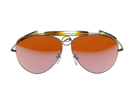 Mustang60A - Pilla - Matte Gold with Tortoise Acetate frame - 10ED lens