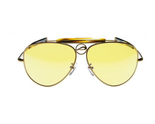 Mustang60A - Pilla - Matte Gold with Tortoise Acetate frame - 76HC lens