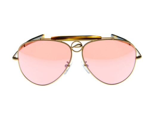Mustang60A - Pilla - Matte Gold with Tortoise Acetate frame - 54HC lens